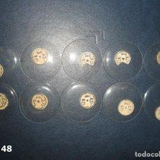 Recambios de relojes: LOTE DE GRANDES Y ANTIGUOS CRISTALES PARA RELOJES DE BOLSILLO. Lote 170194016