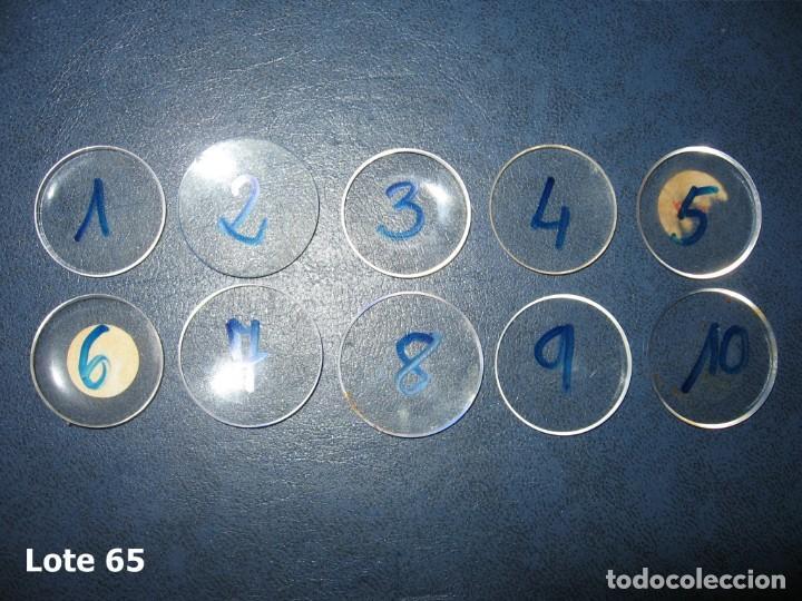 Recambios de relojes: Lote de medianos y antiguos cristales para relojes de pulsera o bolsillo. - Foto 2 - 170200780