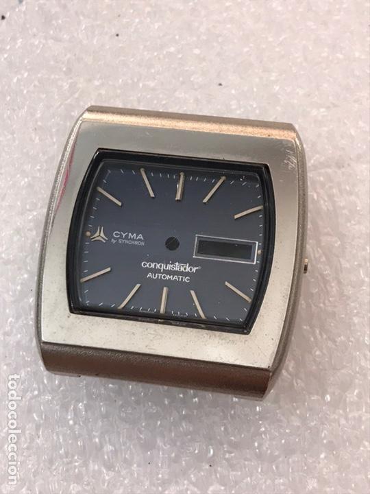 Recambios de relojes: Caja case para reloj CYMA automático doble calendario ref 24-317 sin usar - Foto 2 - 171187838