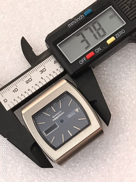 Recambios de relojes: Caja case para reloj CYMA automático doble calendario ref 24-317 sin usar - Foto 4 - 171187838