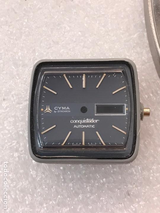 Recambios de relojes: Caja case para reloj CYMA automático doble calendario ref 24-317 sin usar - Foto 6 - 171187838