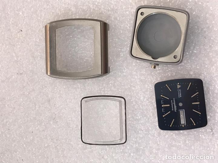 Recambios de relojes: Caja case para reloj CYMA automático doble calendario ref 24-317 sin usar - Foto 7 - 171187838
