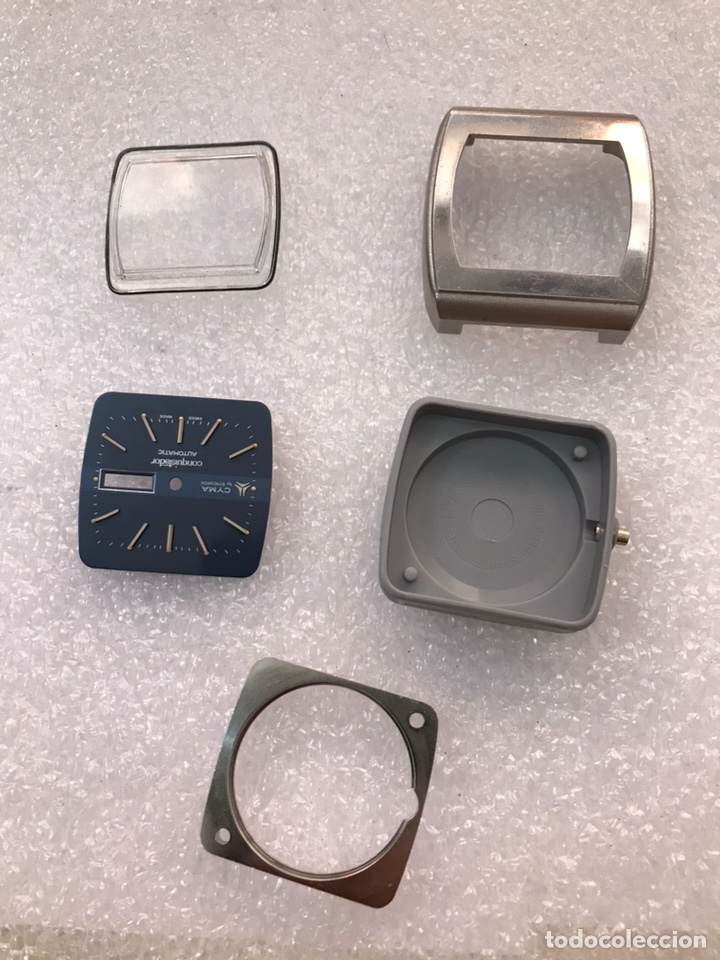 Recambios de relojes: Caja case para reloj CYMA automático doble calendario ref 24-317 sin usar - Foto 10 - 171187838