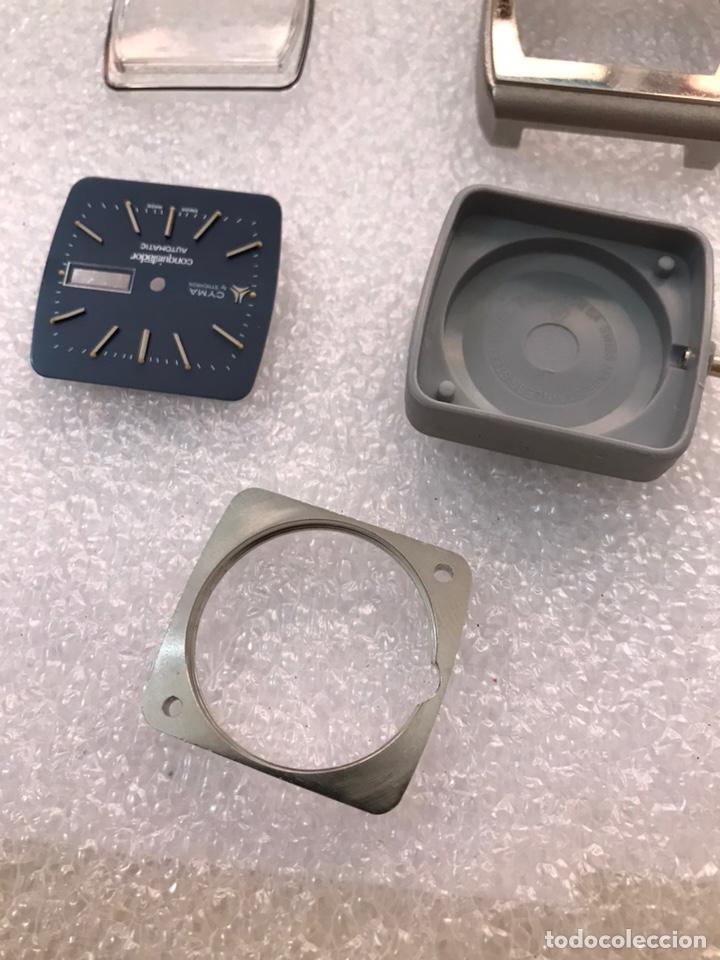 Recambios de relojes: Caja case para reloj CYMA automático doble calendario ref 24-317 sin usar - Foto 11 - 171187838