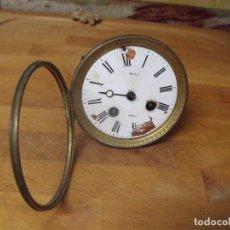 Recambios de relojes: ANTIGUA MAQUINARIA PARIS PARA RELOJ SOBREMESA-AÑO 1870-FUNCIONA-LOTE 204. Lote 171193492