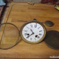 Recambios de relojes: ANTIGUA MAQUINARIA PARIS PARA RELOJ SOBREMESA-AÑO 1870- LOTE 204- COMPLETA Y FUNCIONA. Lote 171194834
