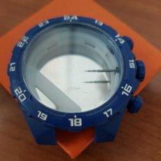 Recambios de relojes: CAJA PARA RELOJ LOTUS CRONOMETRO MODELO 15730 CON BATA, TIJA, CORONA, CRISTAL, SIN USO DE STOCK . Lote 171201215