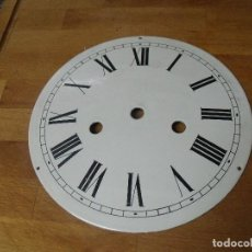 Recambios de relojes: ANTIGUA ESFERA ABOMBADA EN METAL PARA RELOJ MOREZ DE PESAS U OTRO- A ESTRENAR- LOTE 205. Lote 171232475
