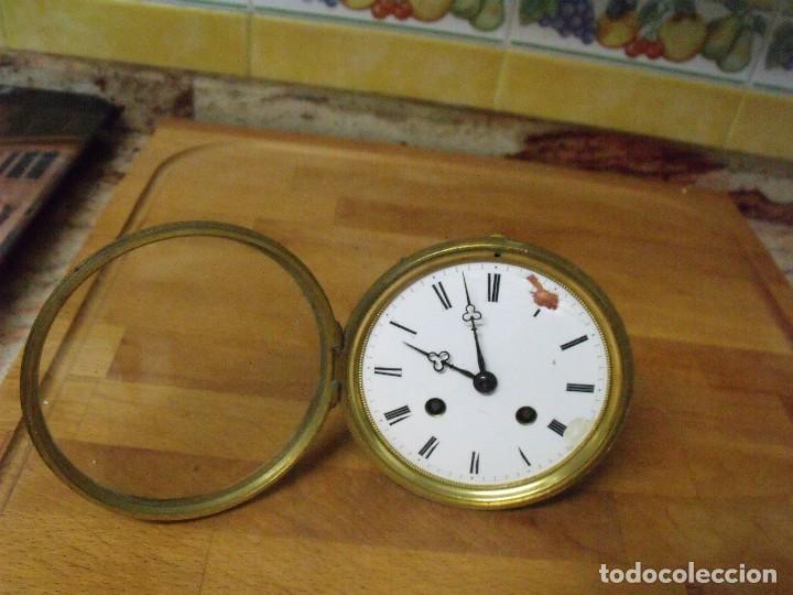 Recambios de relojes: Antigua maquinaria Paris para reloj sobremesa-año 1870- lote 205 - Foto 2 - 171233445