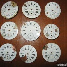 Recambios de relojes: LOTE DE ESFERAS PARA RELOJES DE BOLSILLO ANTIGUOS.. Lote 171388138