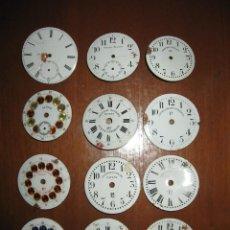 Recambios de relojes: LOTE DE ESFERAS PARA RELOJES DE BOLSILLO ANTIGUOS. Lote 171388935
