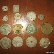 Recambios de relojes: LOTE DE ESFERAS PARA RELOJES DE BOLSILLO Y PULSERA ANTIGUAS.. Lote 171392679