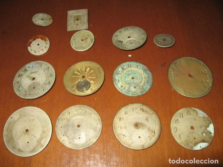Recambios de relojes: Lote de esferas para relojes de bolsillo y pulsera antiguas. - Foto 2 - 171392679