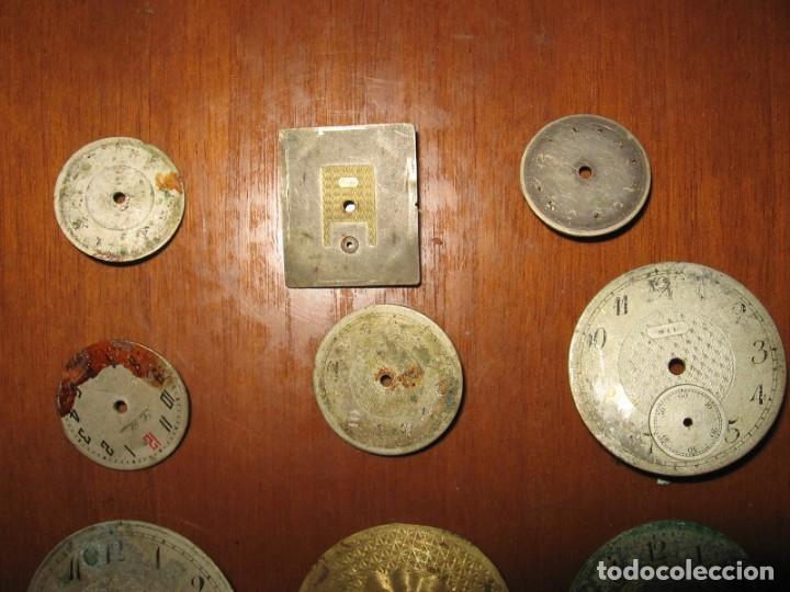 Recambios de relojes: Lote de esferas para relojes de bolsillo y pulsera antiguas. - Foto 3 - 171392679