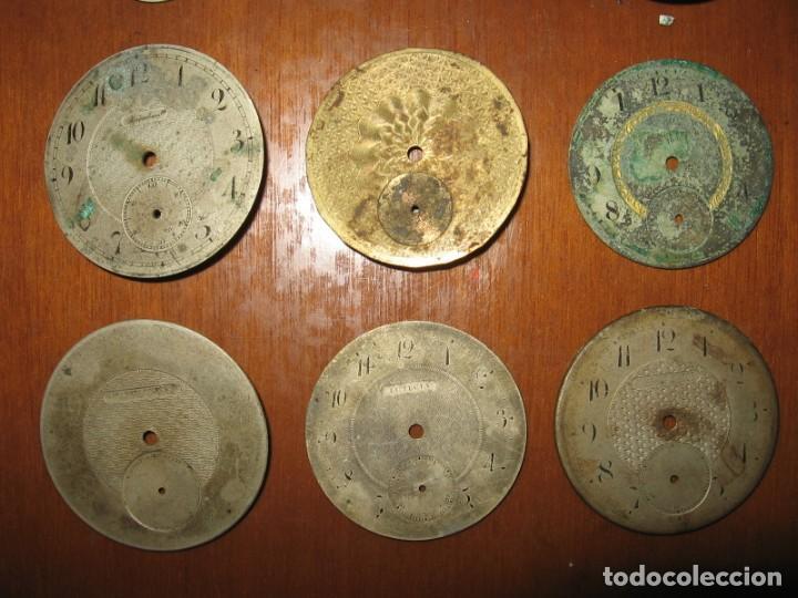 Recambios de relojes: Lote de esferas para relojes de bolsillo y pulsera antiguas. - Foto 4 - 171392679