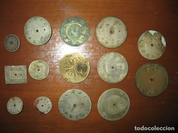 Recambios de relojes: Lote de esferas para relojes de bolsillo y pulsera antiguas. - Foto 6 - 171392679