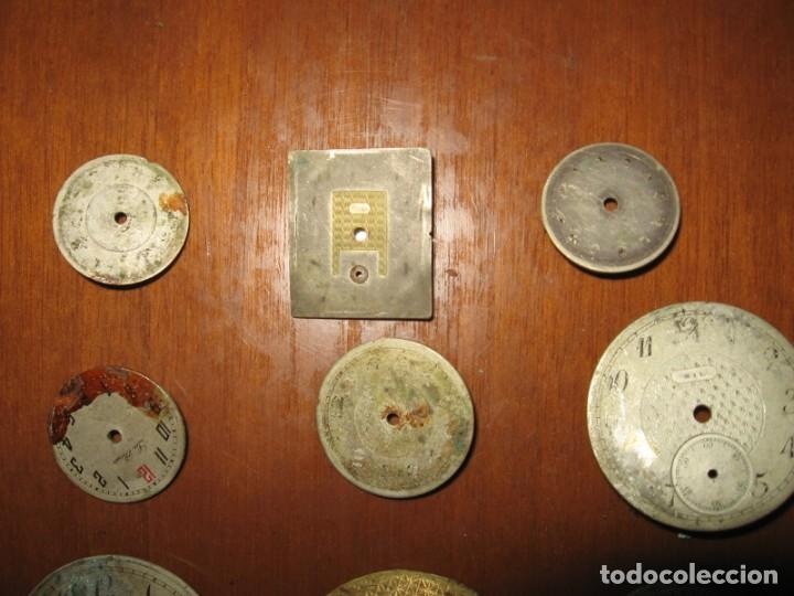 Recambios de relojes: Lote de esferas para relojes de bolsillo y pulsera antiguas. - Foto 7 - 171392679