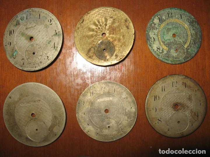 Recambios de relojes: Lote de esferas para relojes de bolsillo y pulsera antiguas. - Foto 8 - 171392679