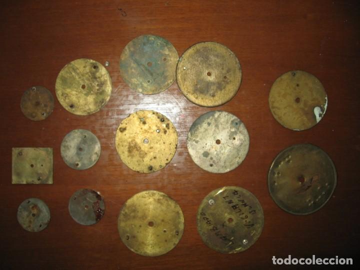 Recambios de relojes: Lote de esferas para relojes de bolsillo y pulsera antiguas. - Foto 9 - 171392679