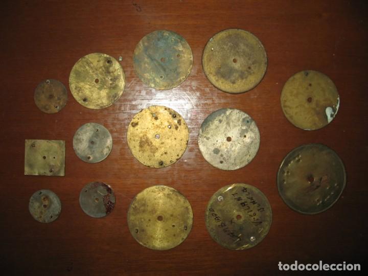 Recambios de relojes: Lote de esferas para relojes de bolsillo y pulsera antiguas. - Foto 10 - 171392679