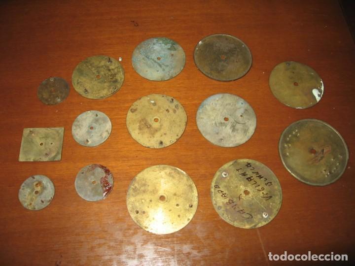 Recambios de relojes: Lote de esferas para relojes de bolsillo y pulsera antiguas. - Foto 12 - 171392679
