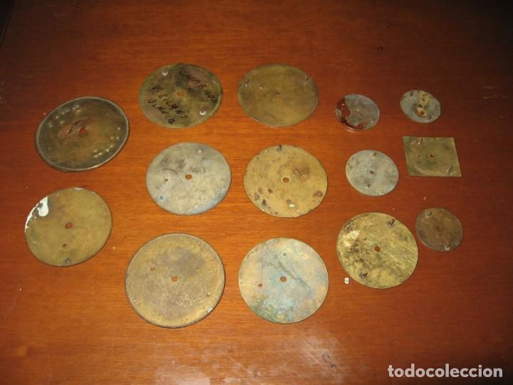Recambios de relojes: Lote de esferas para relojes de bolsillo y pulsera antiguas. - Foto 13 - 171392679