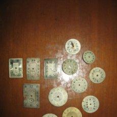 Recambios de relojes: LOTE DE ESFERAS PEQUEÑAS PARA RELOJES DE BOLSILLO Y PULSERA ANTIGUAS.. Lote 171396373