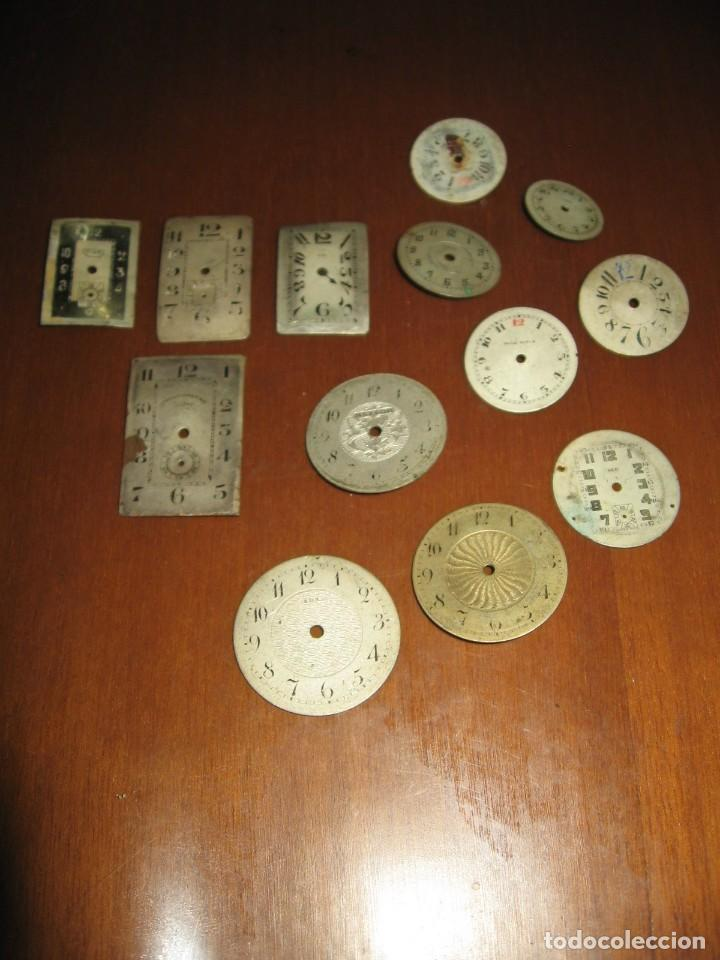 Recambios de relojes: Lote de esferas pequeñas para relojes de bolsillo y pulsera antiguas. - Foto 2 - 171396373