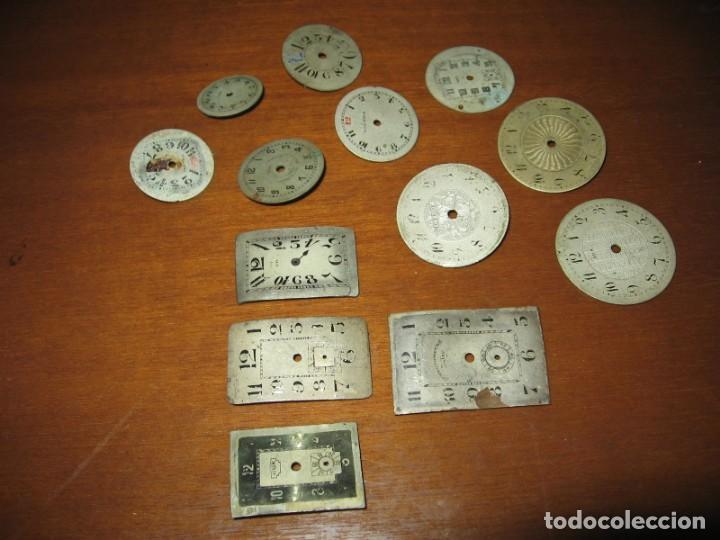 Recambios de relojes: Lote de esferas pequeñas para relojes de bolsillo y pulsera antiguas. - Foto 3 - 171396373