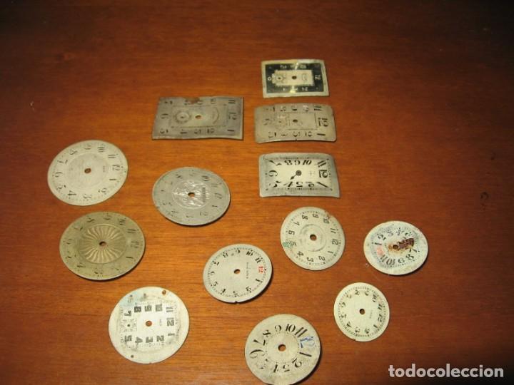 Recambios de relojes: Lote de esferas pequeñas para relojes de bolsillo y pulsera antiguas. - Foto 4 - 171396373