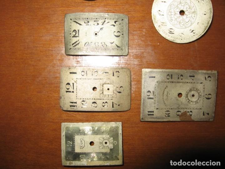 Recambios de relojes: Lote de esferas pequeñas para relojes de bolsillo y pulsera antiguas. - Foto 5 - 171396373