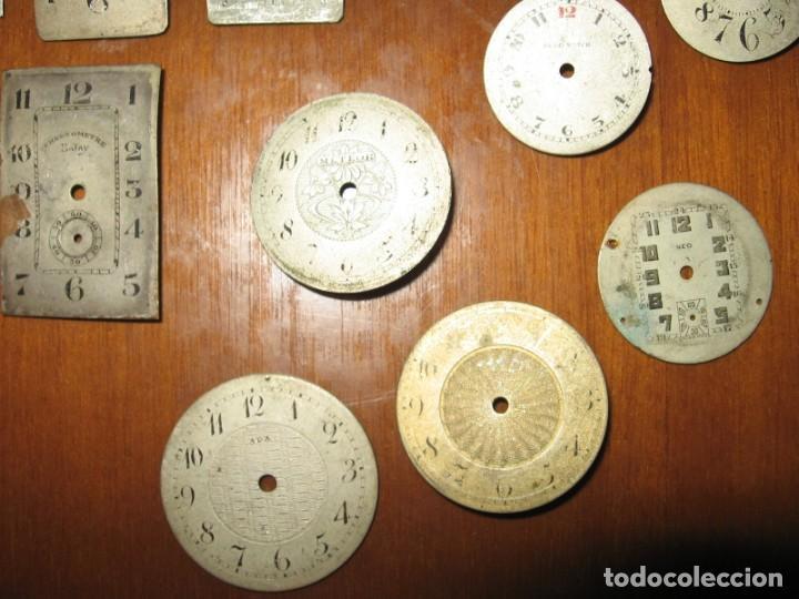 Recambios de relojes: Lote de esferas pequeñas para relojes de bolsillo y pulsera antiguas. - Foto 6 - 171396373