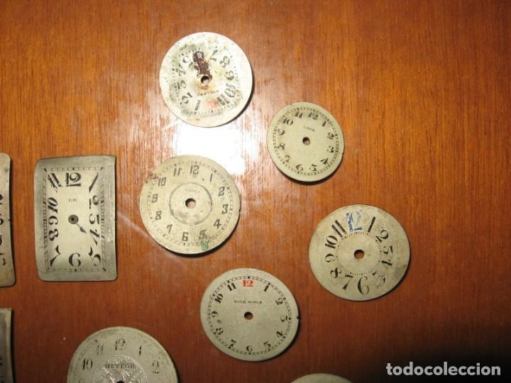 Recambios de relojes: Lote de esferas pequeñas para relojes de bolsillo y pulsera antiguas. - Foto 7 - 171396373