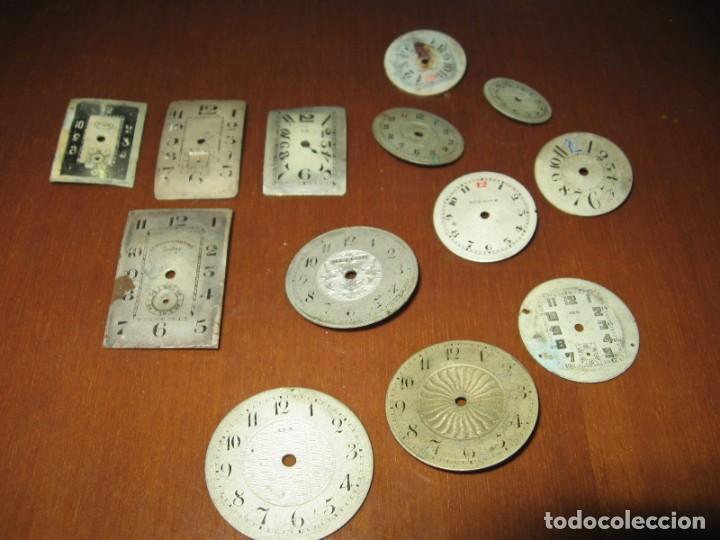 Recambios de relojes: Lote de esferas pequeñas para relojes de bolsillo y pulsera antiguas. - Foto 8 - 171396373