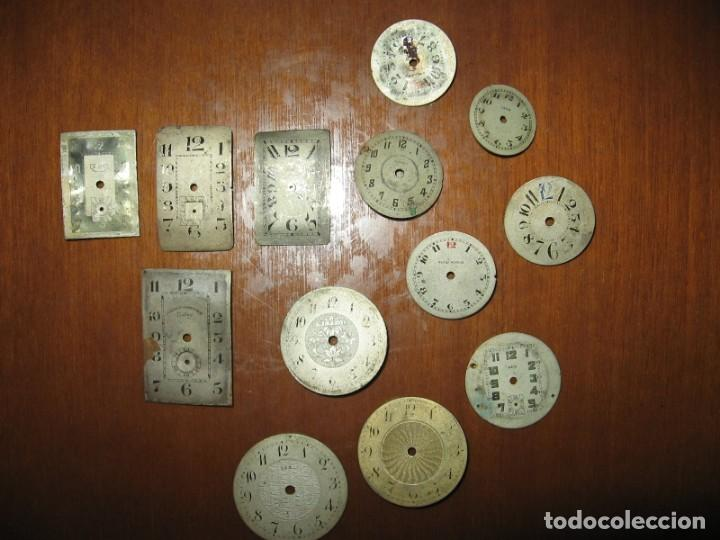 Recambios de relojes: Lote de esferas pequeñas para relojes de bolsillo y pulsera antiguas. - Foto 9 - 171396373