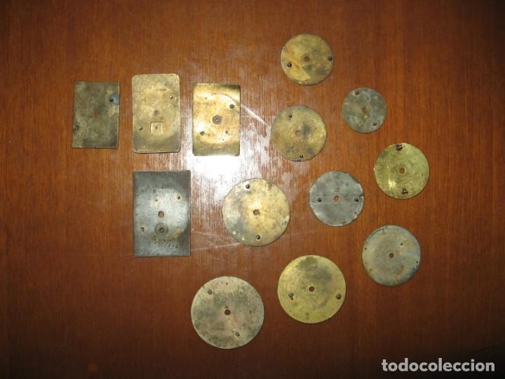 Recambios de relojes: Lote de esferas pequeñas para relojes de bolsillo y pulsera antiguas. - Foto 10 - 171396373