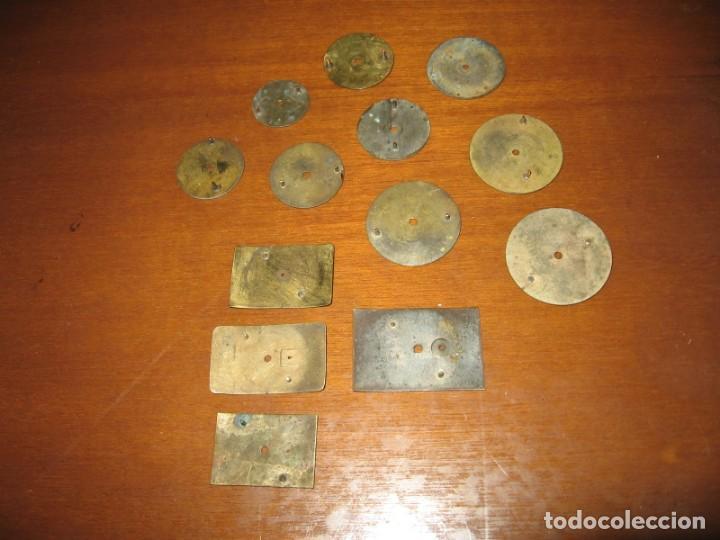 Recambios de relojes: Lote de esferas pequeñas para relojes de bolsillo y pulsera antiguas. - Foto 11 - 171396373