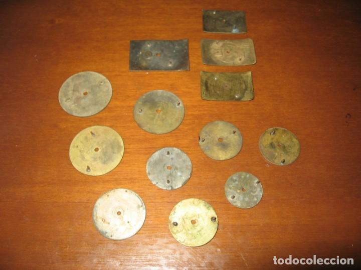 Recambios de relojes: Lote de esferas pequeñas para relojes de bolsillo y pulsera antiguas. - Foto 12 - 171396373