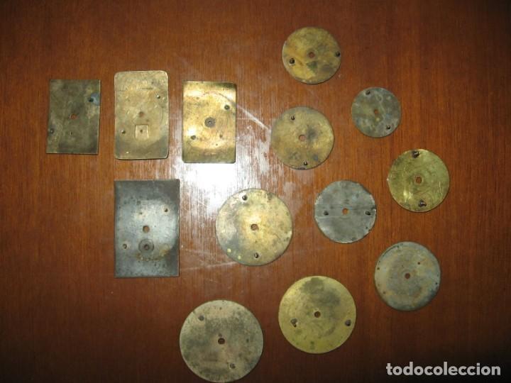 Recambios de relojes: Lote de esferas pequeñas para relojes de bolsillo y pulsera antiguas. - Foto 13 - 171396373