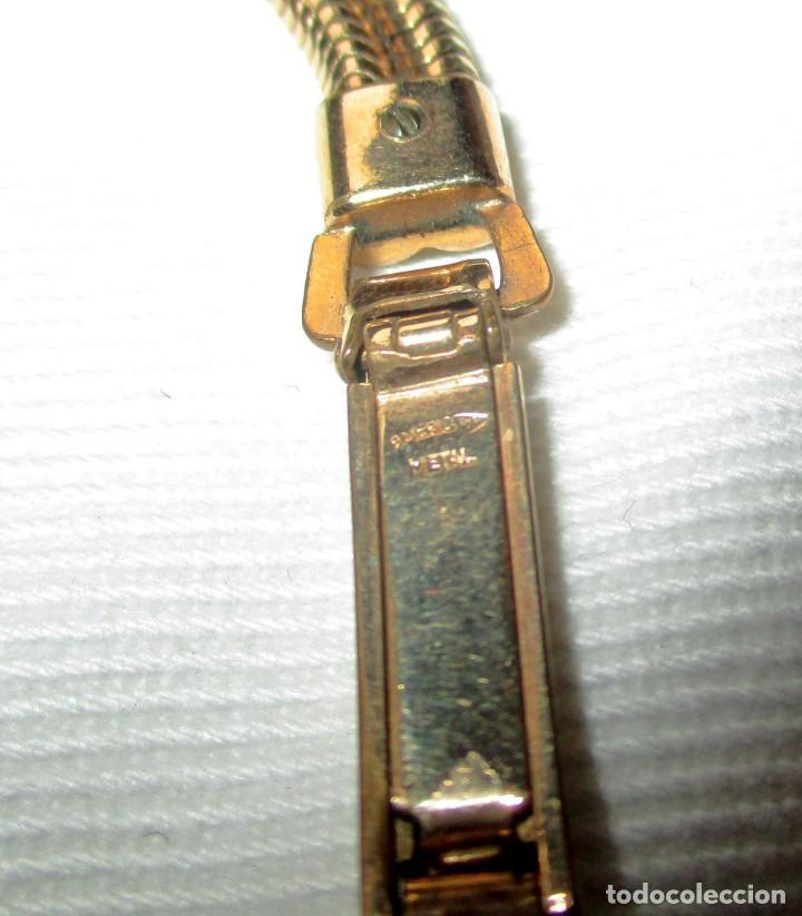 Recambios de relojes: PULSERA DORADA EXTENSIBLE DE METAL PARA RELOJ DE SEÑORA. FÁBRICAS SUIZAS, HERNANI, AÑOS 40. - Foto 11 - 172006483