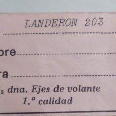 Recambios de relojes: LANDERON - 203 - 1 EJE VTE. - (CD-2574). Lote 172130113