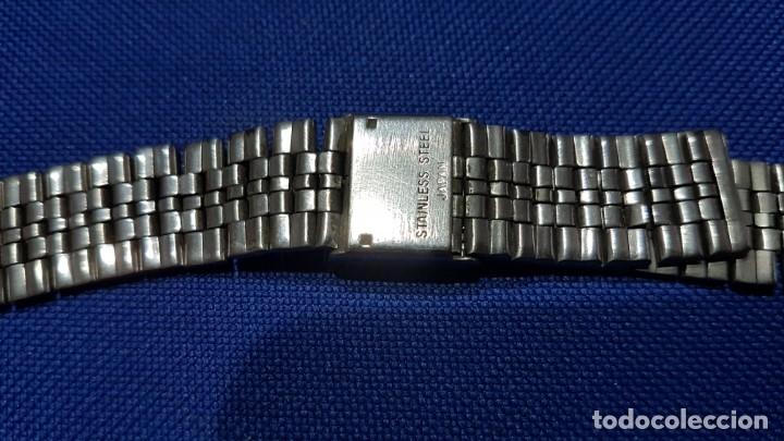 Recambios de relojes: BONITA CORREA - CADENA - ARMIS DE ACERO ORIGINAL DE RELOJ CASIO- ANTIGUA - Foto 2 - 172654622
