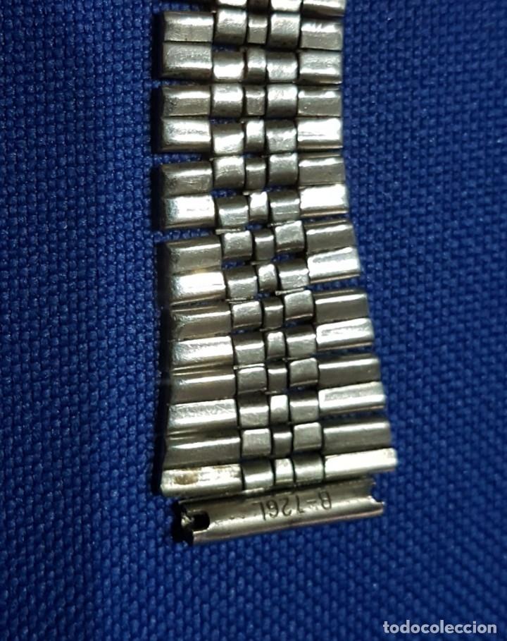 Recambios de relojes: BONITA CORREA - CADENA - ARMIS DE ACERO ORIGINAL DE RELOJ CASIO- ANTIGUA - Foto 4 - 172654622