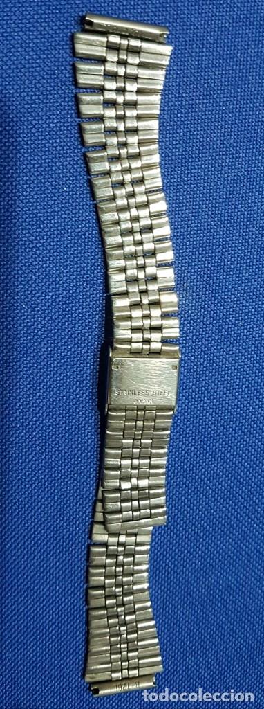 Recambios de relojes: BONITA CORREA - CADENA - ARMIS DE ACERO ORIGINAL DE RELOJ CASIO- ANTIGUA - Foto 5 - 172654622