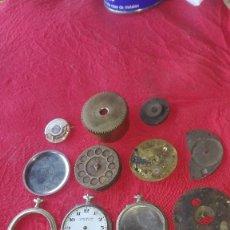 Recambios de relojes: LOTE DE RELOJES DE BOLSILLO Y PIEZAS ANTIGUAS. Lote 172690749