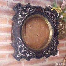 Recambios de relojes: ¡¡GRAN OFERTA!! ANTIGUA CAJA DE RELOJ DE ESCUELA- AÑO 1880- FRONTAL NACAR LOTE 208. Lote 173095597