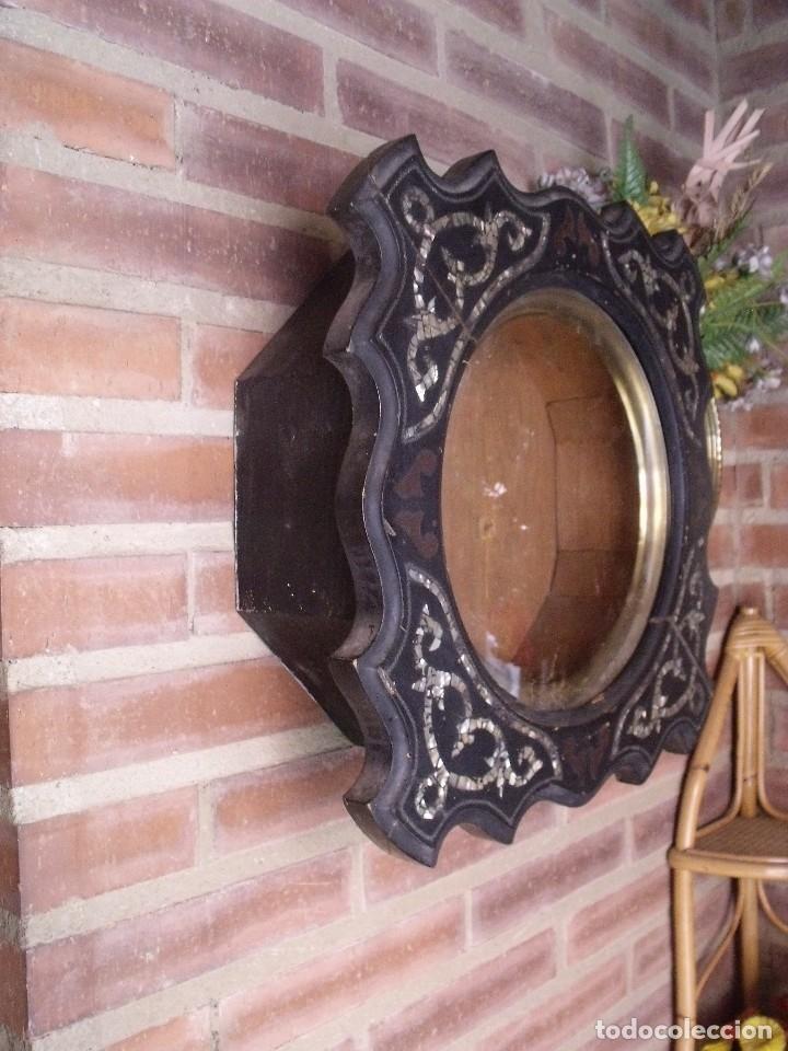 Recambios de relojes: ¡¡gran oferta!! ANTIGUA CAJA DE RELOJ DE ESCUELA- AÑO 1880- FRONTAL NACAR LOTE 208 - Foto 3 - 173095597