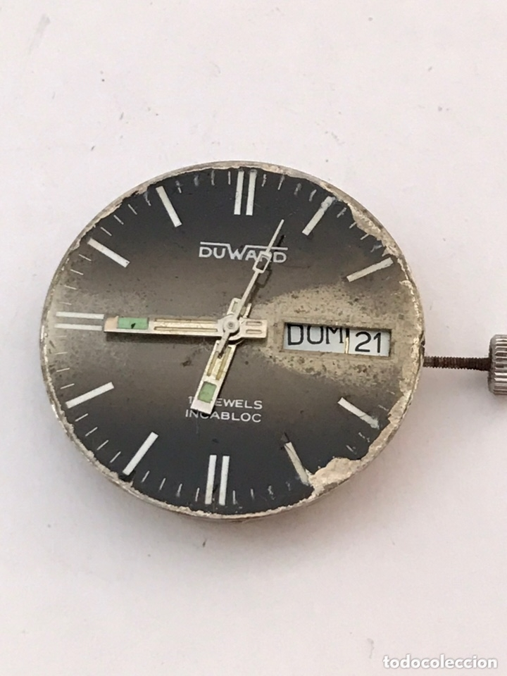 Recambios de relojes: Maquinaria reloj duward doble calendario carga manual - Foto 2 - 173447105