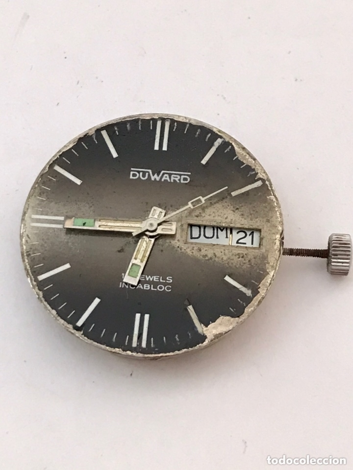 MAQUINARIA RELOJ DUWARD DOBLE CALENDARIO CARGA MANUAL (Relojes - Recambios)