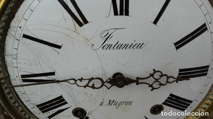 Recambios de relojes: Cabeza con mecanismo de reloj Morez, funciona - Foto 2 - 173582892